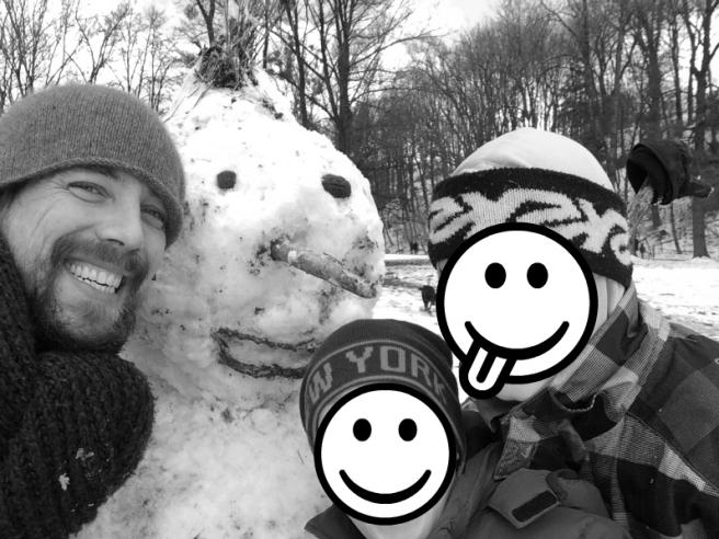Meine Jungs: Die Gauboys, ein Schneemann und ich (Foto: Maximilian Gaub)