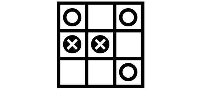 Lernturbo Game: Wenn wir lebenslang lernen, dann am besten: spielerisch. (Foto: Tic Tac Toe by Stephen West / Noun Project)